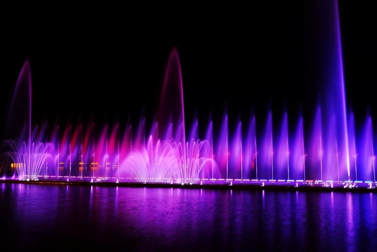 台州灵湖大型音乐喷泉设